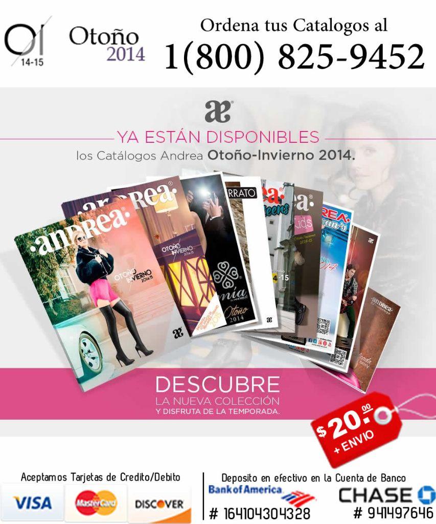 Andrea 1(800) 825-9452 | Venta por Catalogo