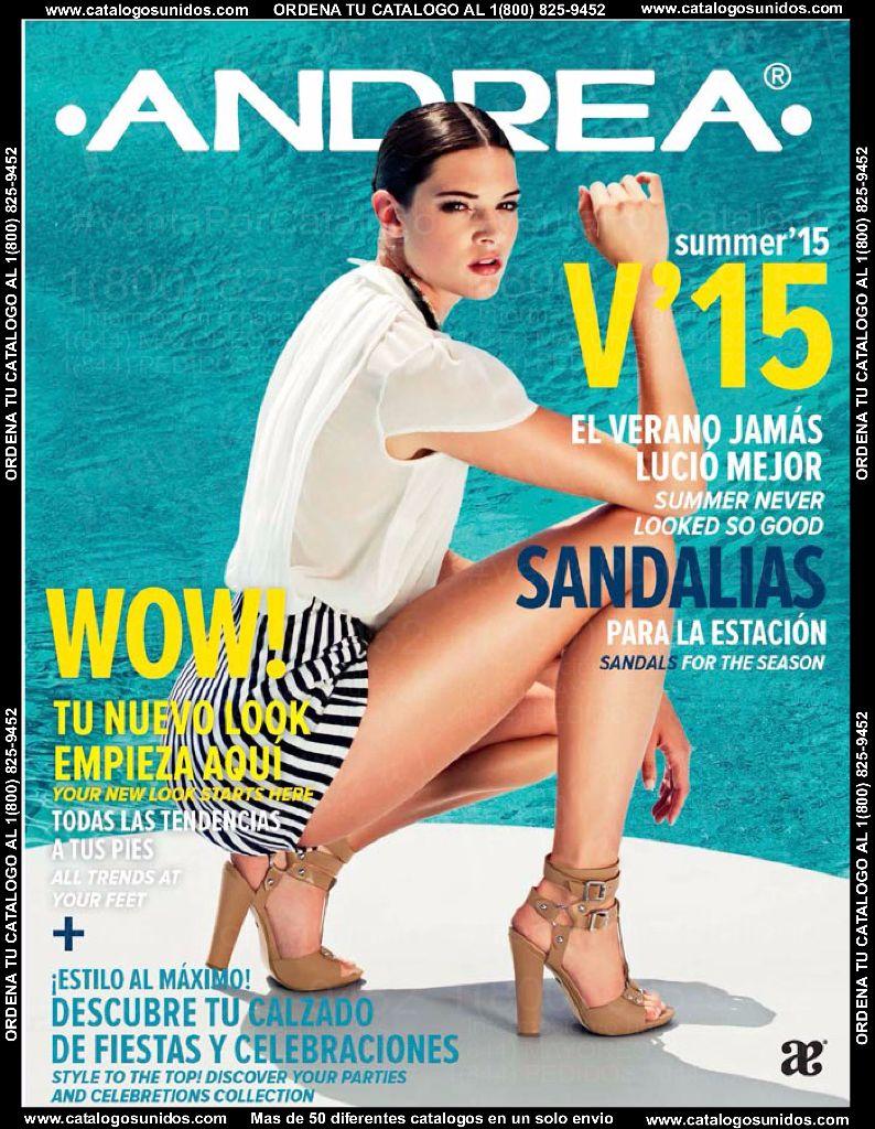 Catalogo Andrea Sandalia Verano 2015